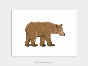 """Tierposter """"Bär"""" ²"""