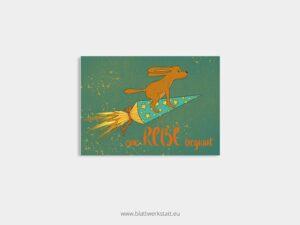 """5er Postkarten- Paket """"Eine Reise beginnt"""" ²"""
