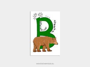 ABC Postkarten B wie Bär ²