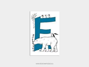 ABC Postkarten E wie Eisbär ²