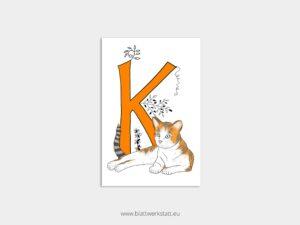ABC Postkarten K wie Katze ²