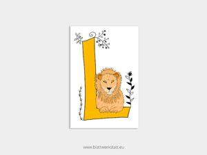 ABC Postkarten L wie Löwe ²