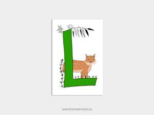 ABC Postkarten L wie Luchs ²