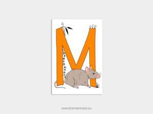 ABC Postkarten M wie Maus ²