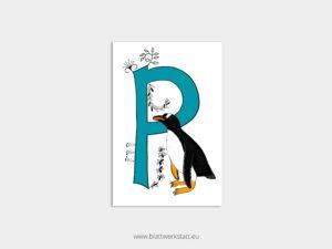 ABC Postkarten P wie Pinguin ²