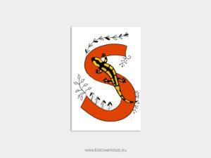 ABC Postkarten S wie Salamander ²