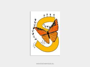 ABC Postkarten S wie Schmetterling ²