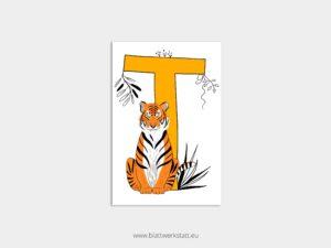 ABC Postkarten T wie Tiger ²