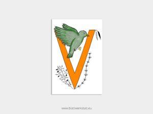 ABC Postkarten V wie Vogel ²
