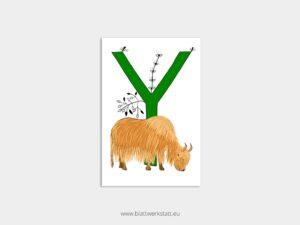ABC Postkarten Y wie Yak ²