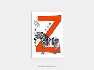 ABC Postkarten Z wie Zebra ²