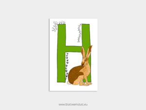 ABC Postkarten H wie Hase ²