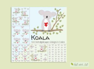 Digitales Papier zum Download: Koala ²