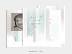 """Geburtsanzeige """"Johannes"""" ²"""