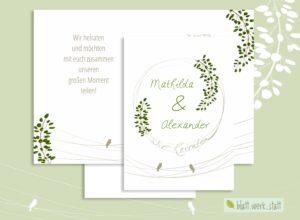 """Klappkarte """"Birds – Einladung zur Hochzeit"""" ²"""