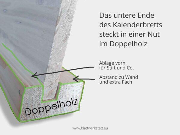 Kalenderbrett Doppelholz Skizzenfoto