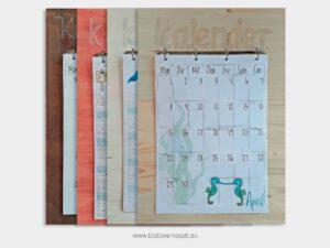 Brett für Wand Kalender Blätter A3²
