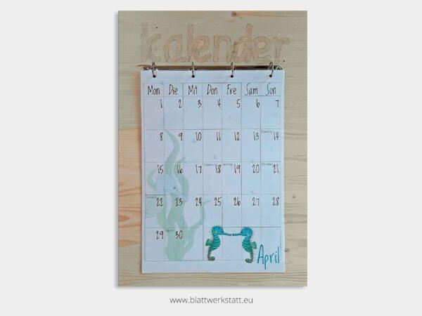 Kalenderbrett natur fuer Kalenderblatter A3