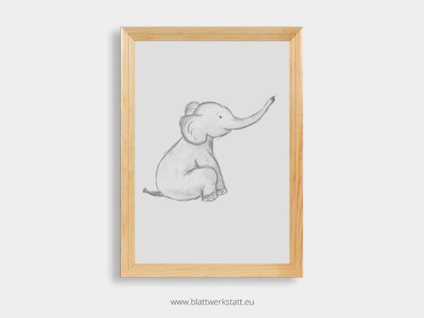 Bilderrahmen aus Holz fuer A4 Poster, Bilder, Plakate