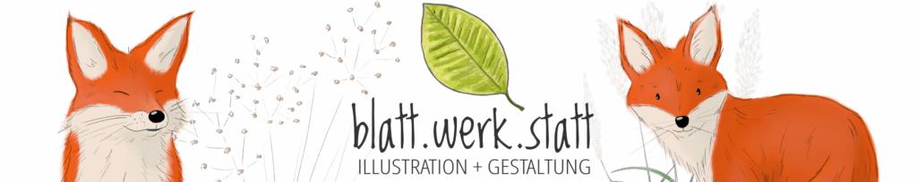 Banner Diana Pfister blatt.werk.statt Illustration + Gestaltung