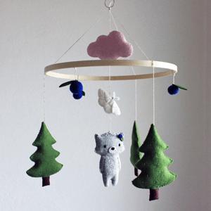 Geschenke zur Geburt_Diana Pfister blatt.werk.statt Illustration + Gestaltung, Regenpanda_Mobile