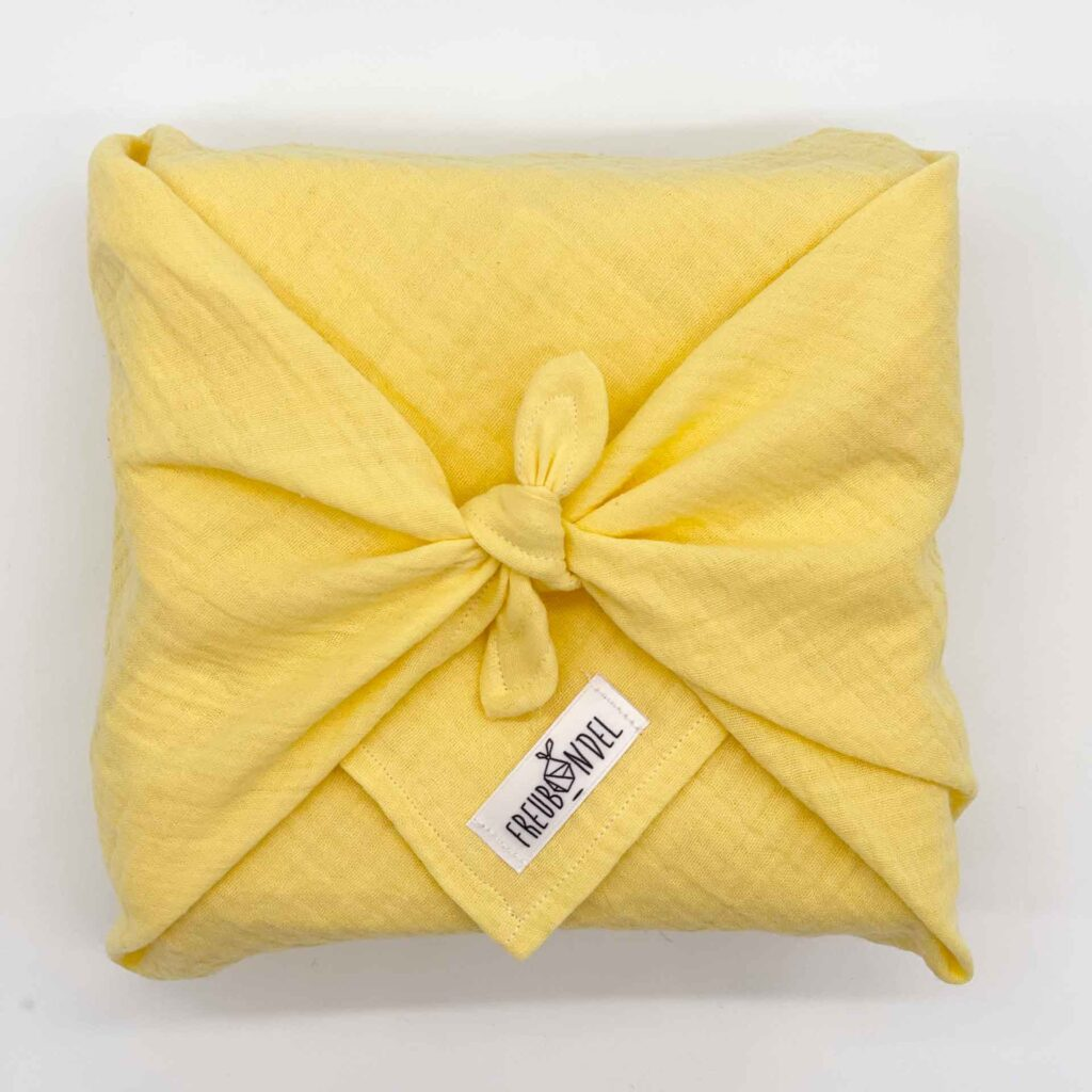 Geschenke zur Geburt_Diana Pfister blatt.werk.statt Illustration + Gestaltung, Freubuendel_Paket gelb