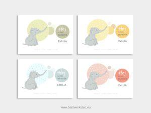 "Postkarte zur Geburt ""Emilia"" ²"