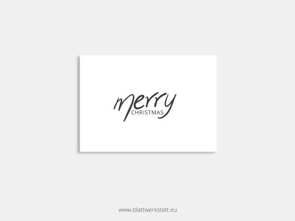 Postkarte mit Text ohne Zeichnung Merry Christmas